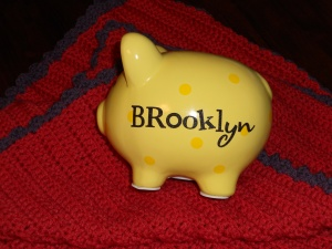 Customized piggy bank for Brooklyn